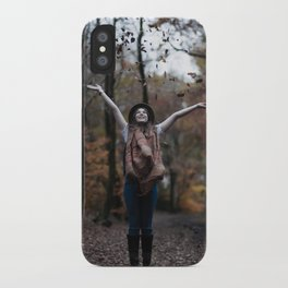 The woods are dark & deep.... iPhone Case