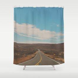 explore. adventure. Open Road Shower Curtain