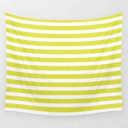 Pastel Yellow Stripes Wall Tapestry