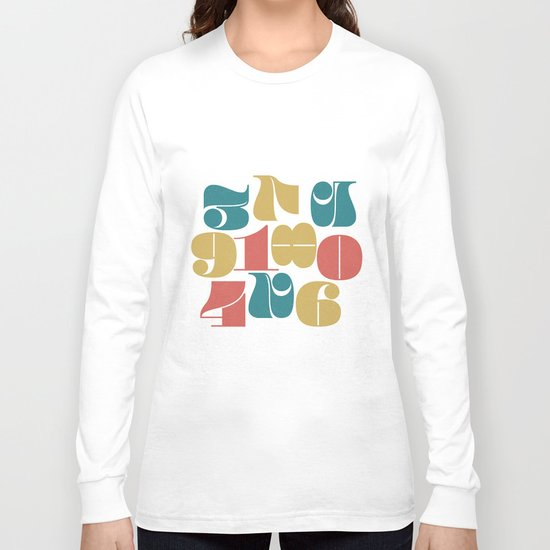 Numerals Long Sleeve T-shirt