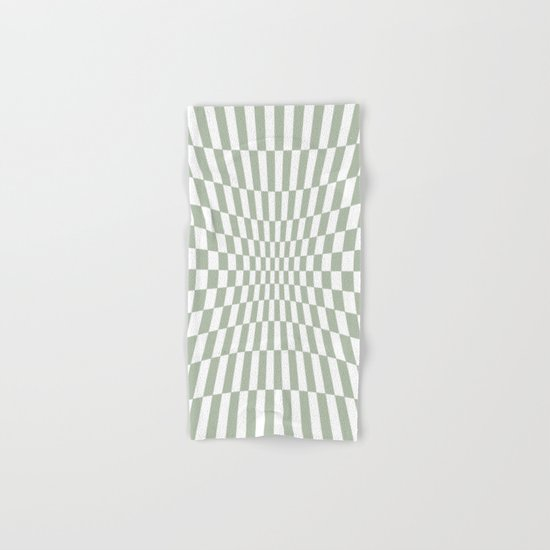 Optical Game Mint Green Hand & Bath Towel