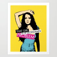 lindsay lohan Art Prints featuring Problem / Lindsay Lohan by Justified