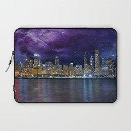 Spacey Chicago Skyline Laptop Sleeve