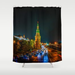 Moscow Kremlin At Night Shower Curtain
