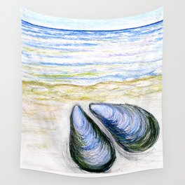 Blue mussel Wall Tapestry