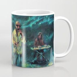 Singer and double bass jazz musicians at night Coffee Mug