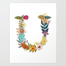 Monogram Letter U Art Print