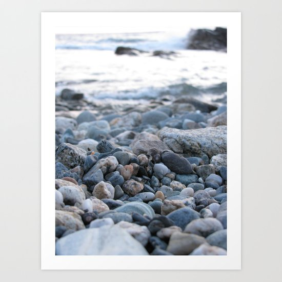 Only Pebbles Art Print