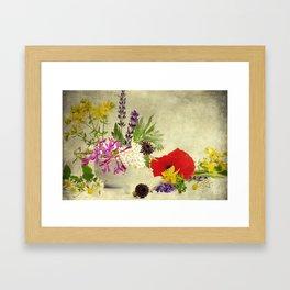 Garden weeds little helpers from nature Framed Art Print