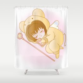 good night sakura Shower Curtain