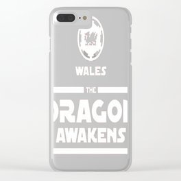 Wales Rugby - The Dragon Awakens T-Shirt Clear iPhone Case