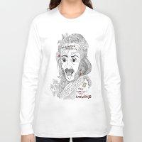 einstein Long Sleeve T-shirts featuring Einstein by Ina Spasova puzzle