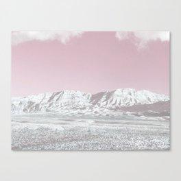 Mojave Snowcaps // Las Vegas Nevada Snowstorm in the Red Rock Canyon Desert Landscape Photograph Canvas Print