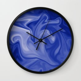 Marble Blues White Wall Clock