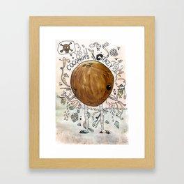 A dreamy collaboration: Coconut crazy Framed Art Print