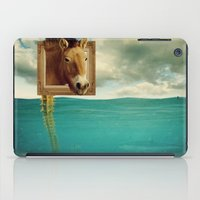 sea horse iPad Cases featuring Sea Horse by Ross Sinclair