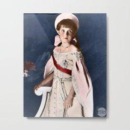 Anastasia Nikolaevna - 1911 Colorized Metal Print