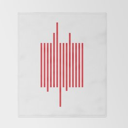 Red Barcode Throw Blanket