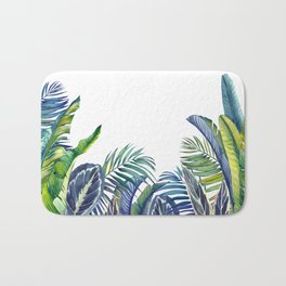 Jungle foliage Bath Mat