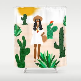 Ice Cream in the Desert Shower Curtain