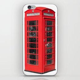 Iconic Red UK Phone Box iPhone Skin