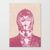 c3po Canvas Prints featuring C3PO by NJ-Illustrations