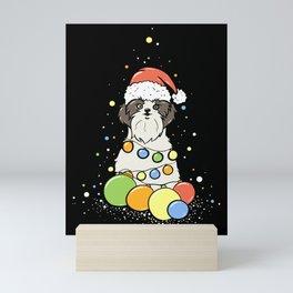 Shih Tzu Christmas Design Gift Mini Art Print