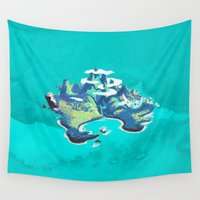 neverland Wall Tapestries featuring Disney's Peter Pan Neverland by foreverwars