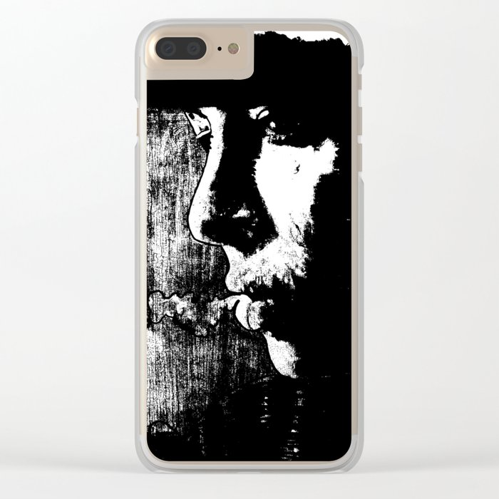 SMOKE - black version Clear iPhone Case