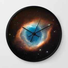 The Helix Nebula Space Photo Wall Clock