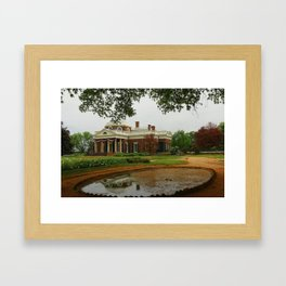 Morning At Monticello - Jeffersons Home Framed Art Print