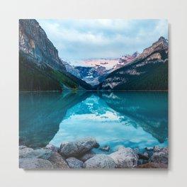 Sunrise at Lake Louise Metal Print