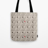 calcifer Tote Bags featuring cats II by ururuty