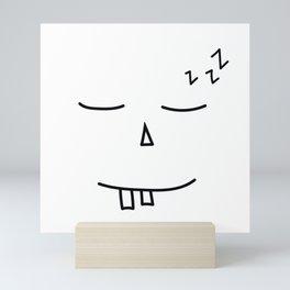 Sleeping face Mini Art Print