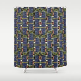Cool Woven Blue Shower Curtain