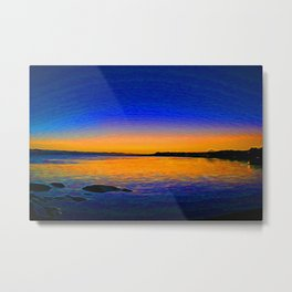 West Coast Sunset Metal Print