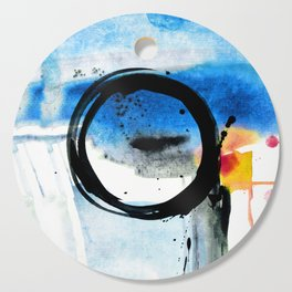 Enso Abstraction o. 113J by Kathy Morton Stanion Cutting Board