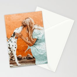 Pet Bound #pets #animals #animalslover #painting Stationery Cards