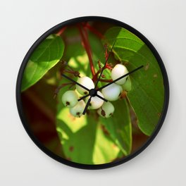 Ivory Berries Wall Clock