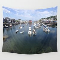 boats Wall Tapestries featuring Boats by aToby