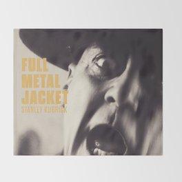 Full Metal Jacket, Stanley Kubrick, alternative movie poster, minimalist print, Vietnam War, Marines Throw Blanket