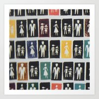 mad men Art Prints featuring Mad men by WeLoveHumans