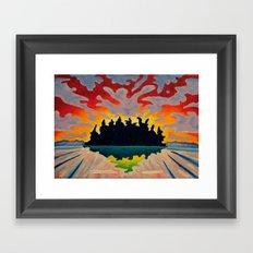 Totem Island Framed Art Print