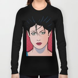 Beautiful Pop Art Woman Sara Long Sleeve T-shirt