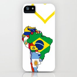 The Love Of South America iPhone Case