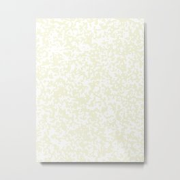 Small Spots - White and Beige Metal Print