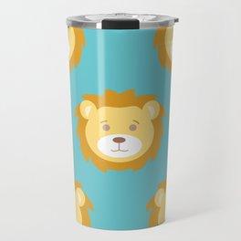 Cute Lion Love Travel Mug