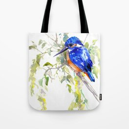 Kingfisher on the Tree Tote Bag