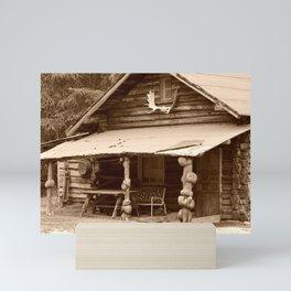 Old Log Cabin Mini Art Print