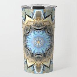 Balance of Blue And Beige Travel Mug